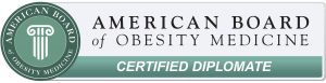 Board Certified in Obesity Medicine